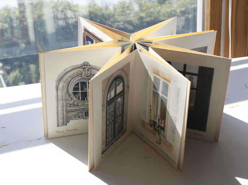 kjf design bookmaking accordion style star book