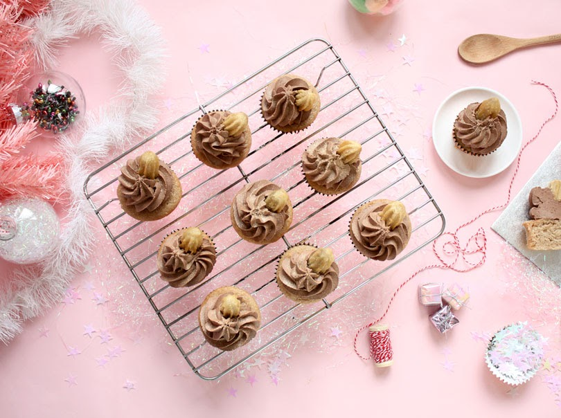 vegan churros cupcakes
