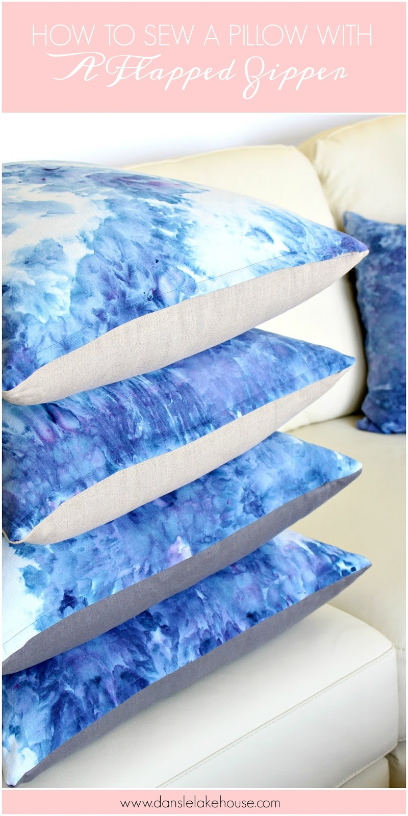 How to sew a pillow with a flapped zipper | @danslelakehouse & How to Sew a Pillow with a Flapped Zipper | Dans le Lakehouse pillowsntoast.com