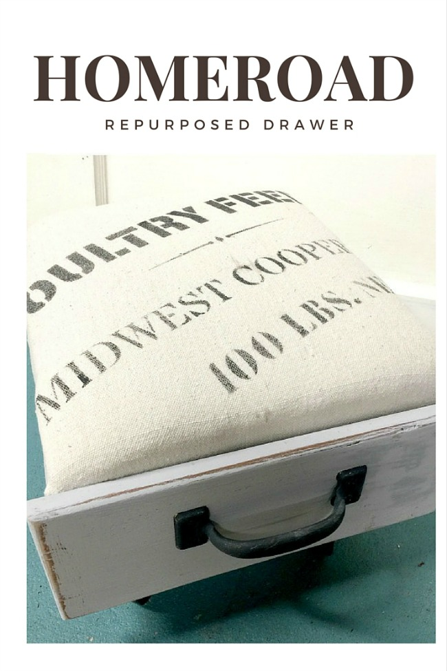 How to Make an Ottoman from an Old Drawer www.homeroad.net