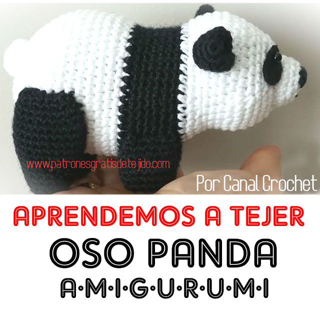 Oso Panda amigurumi tutorial - YouTube | 640x640