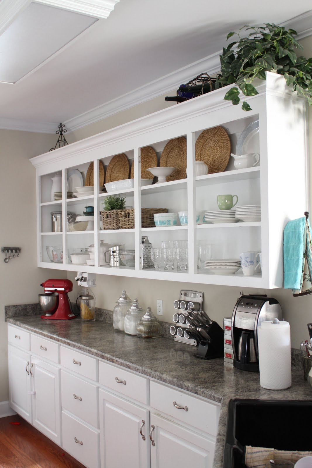 The Benefits Of Open Shelving In The Kitchen: (Lack Of) Progress Report: Kitchen Shelving Units