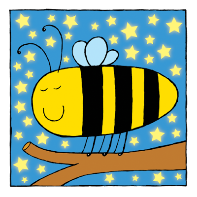 Picture of a sleeping bee