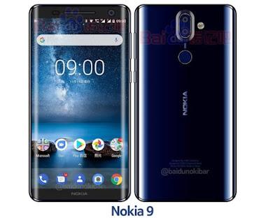 Lộ diện ảnh Nokia 9 màu xanh khác biệt - 209502