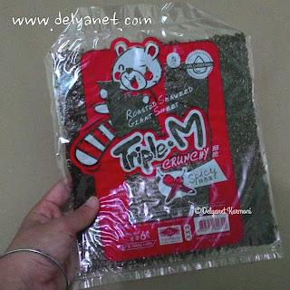 Snack rumput laut kering Triple-M pedas