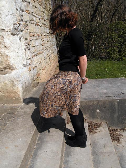 couture d'une jupe plissée