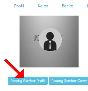 "Klik ""Pasang Gambar Profil"""