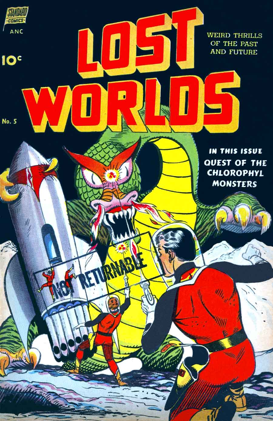 Lost Worlds v1 #5 standard comic book cover art by Alex Toth