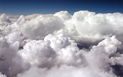 white clouds widescreen hd wallpaper