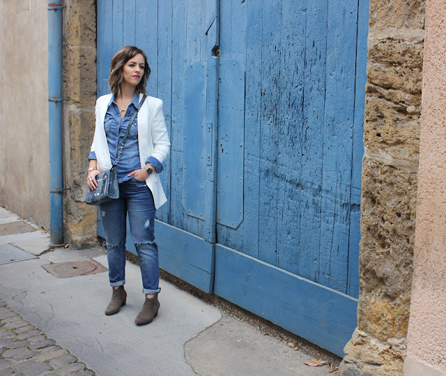 porter un total look jean denim