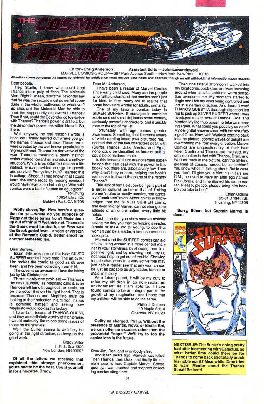 Read online Silver Surfer (1987) comic -  Issue #48 - 33