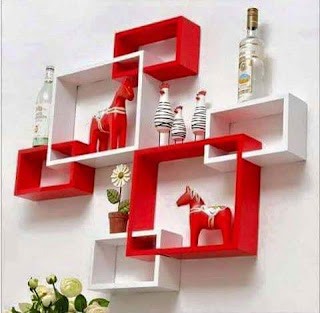 Cekli.net -- 13 Wall Hanging Decoration Ideas -  Red & White Design
