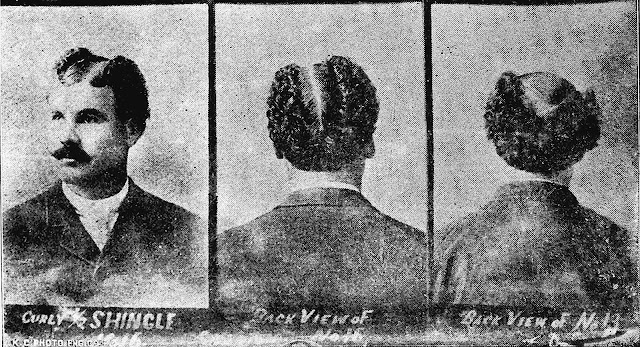 1900 mens hairstyles, The Half Shingle, photograph