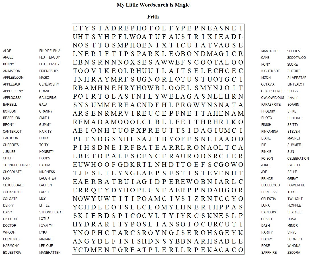 Very Difficult Word Search Puzzles