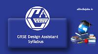 GRSE Design Assistant Syllabus