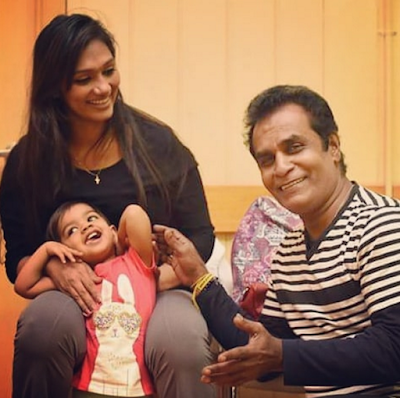Upeksha Swarnamali, Daughter, and Bandu Samarasinghe
