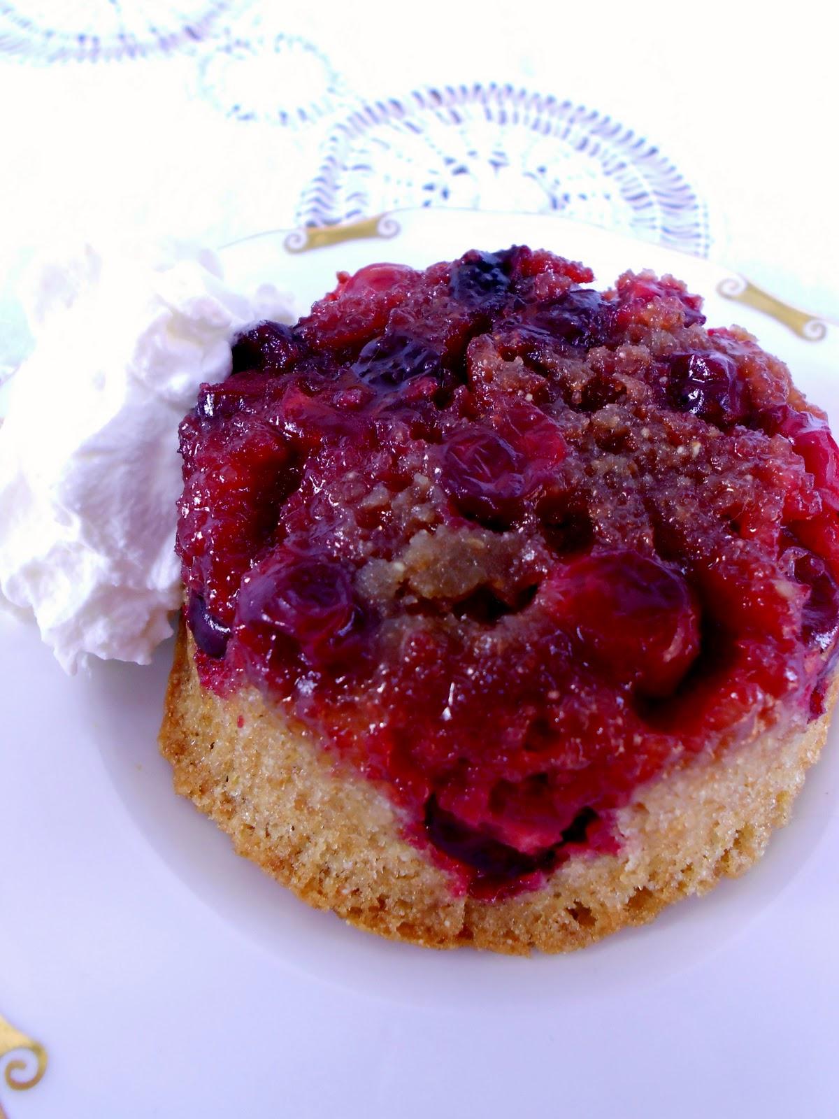 Cranberry Upside Down Coffee Cake