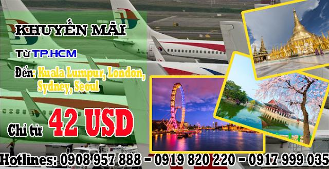 Malaysia Airlines khuyến mãi quốc tế