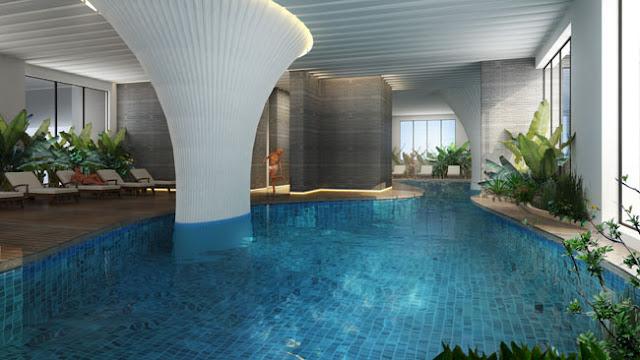 Bể bơi khoáng mặn chung cư Ecolife Capitol