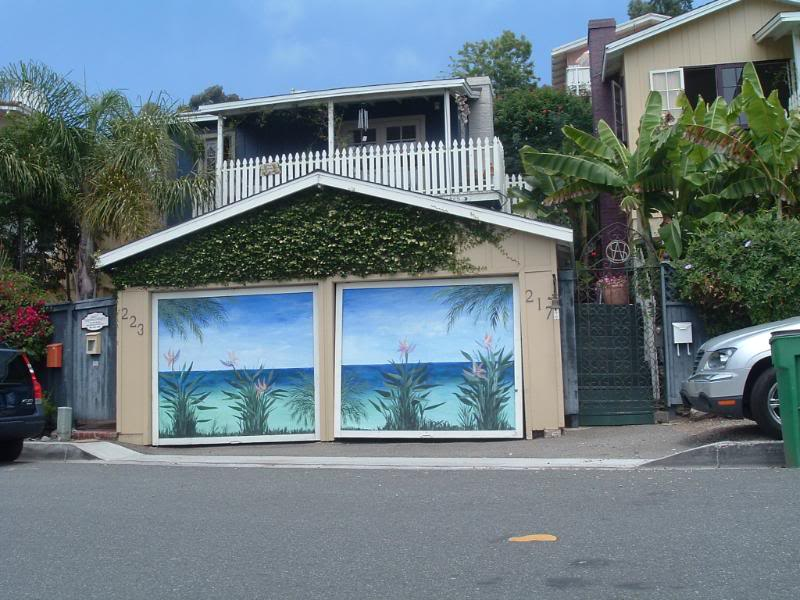 painted garage doors ideas - Decorating Diva Tips Paint A Mural on Your Garage Door