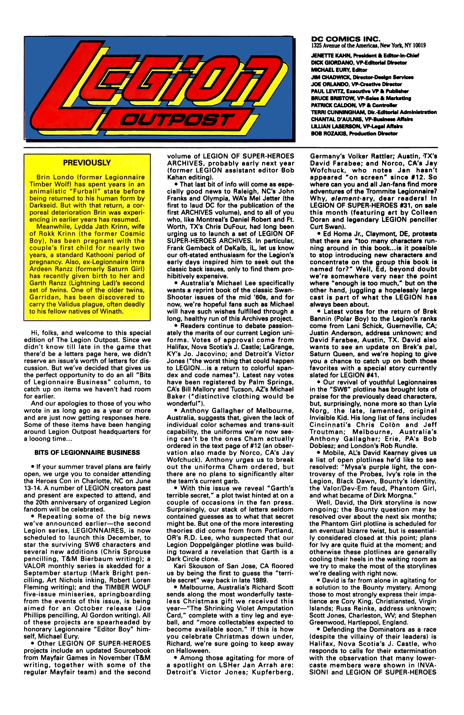 Legion of Super-Heroes (1989) _Annual_3 Page 57