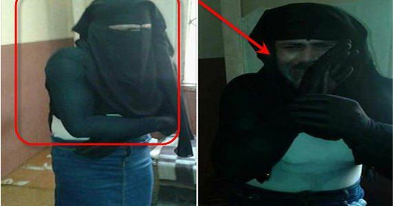 بالصور تفاصيل القبض على رجل متنكر في زي منتقبه وتفاصيل خطيرة تم أكتشافها حول هوية هذا الرجل عن طريق الصدفة