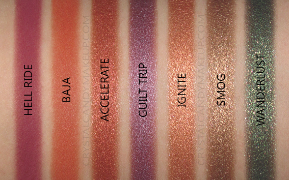 Urban Decay Born To Run Eyeshadow Palette Review Swatches