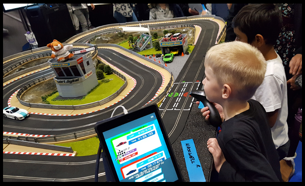 First ever Scalextric race