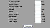Cálculo de trayectoria de balines