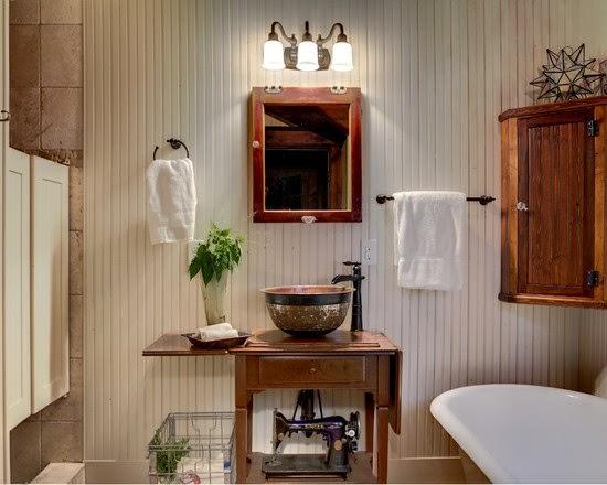 Repurposed Bathroom Ideas: Repurposed Sewing Machine Tables