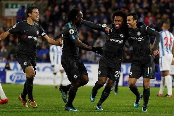 cuplikan gol huddersfield vs chelsea 1-3