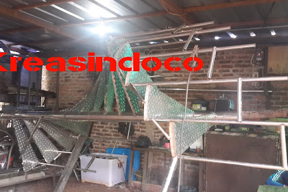 Progres Pembuatan Tangga Putar Stainless Di Tebet Barat Dalam Jakarta