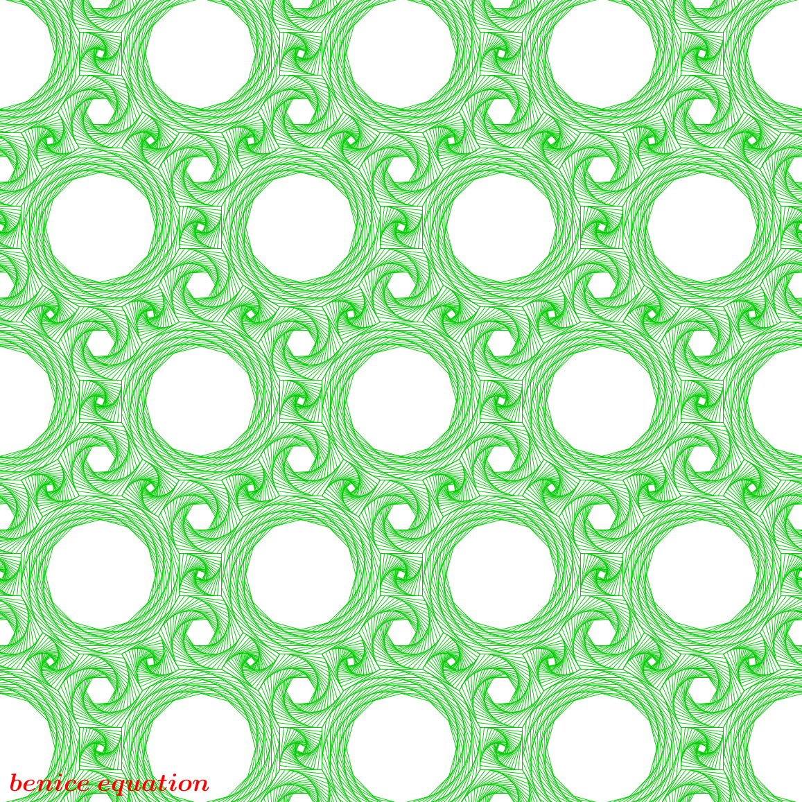 Fun math art (pictures) - benice equation: Tiling by Nested Polygons (2)