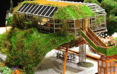 台中花博「荷蘭館」設計採用台糖閒置老木材循環再利用