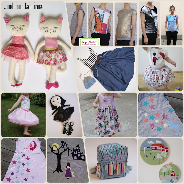 Stoffkatze, Sola Sommertop, Gothic Stoffpuppe, Ballerinarock, Kindergarten Rucksack, Mädchenkleid Nähanleitung und Schnittmuster