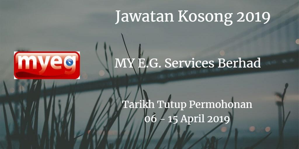 Jawatan Kosong MY E.G. Services Berhad 06 - 15 April 2019