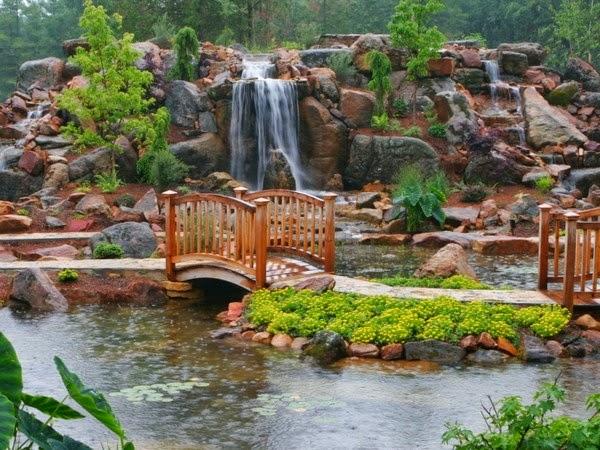 Images pour blogs et facebook paysages zen et relaxants - Pont de bois jardin ...