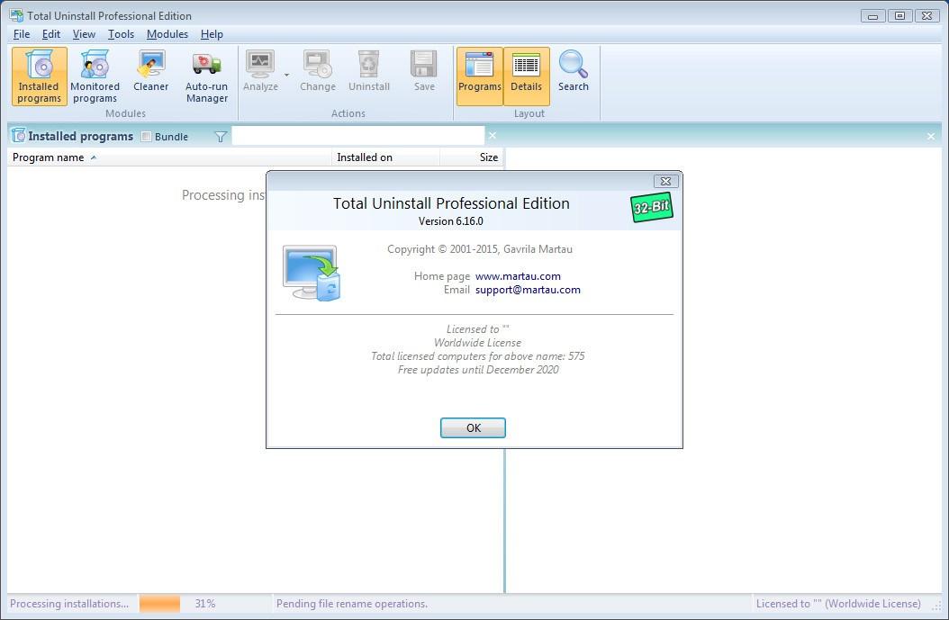 uninstall tool portable license