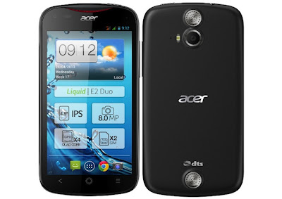 Acer Liquid E2 Official Specifications with its Price in India