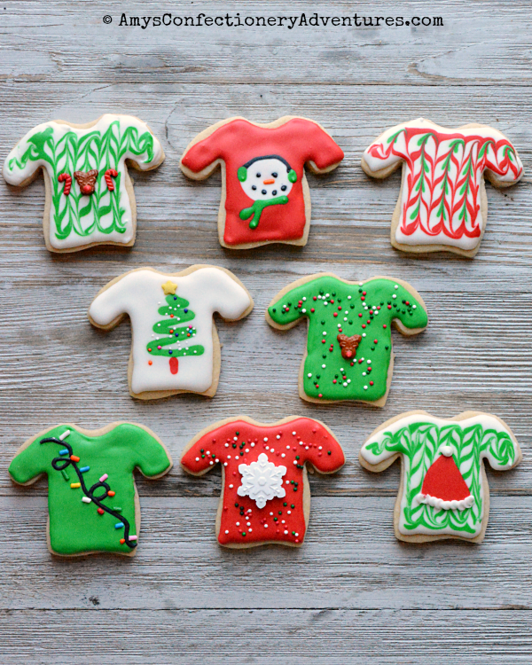 Amy S Confectionery Adventures Ugly Sweater Cookies Santas