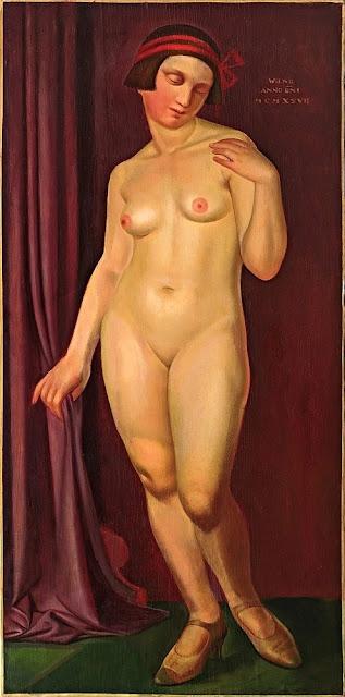 Edward Karniej - Nudo con nastro rosso