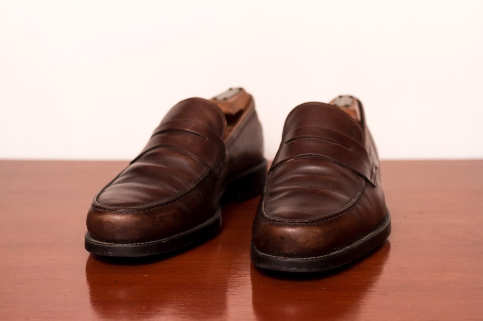 Tutorial Perawatan Sepatu Kulit Dasar Semir Shoe Polish Leather Penny Loafer Dari Tods Sebelum Disemir