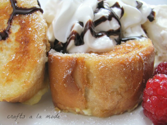 Want to make an easy luscious dessert? Use French toast.