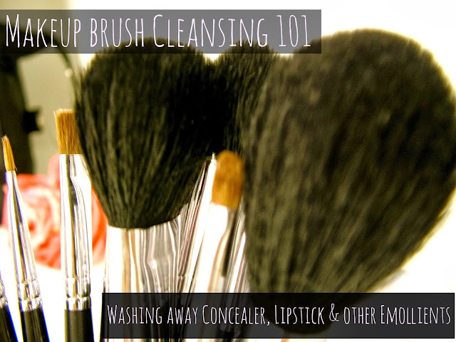 getting lipstick concealer and foundation out of your makeup brushes, cleaning makeup brushes, girlythingsby_e