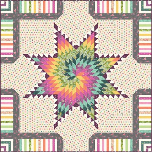 Tula Pink Starburst Quilt Free Pattern