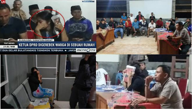 Ketua DPRD Sumatera Barat Digrebek Warga Lagi Merem Melek Bareng Istri Supirnya.