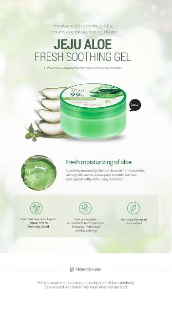 Jeju Aloe By The Face Shop Pelbagai Khasiat Untuk Kulit