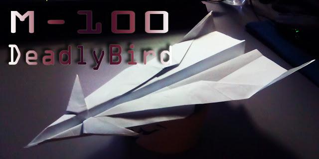 Avión de papel M-100 DeadlyBird