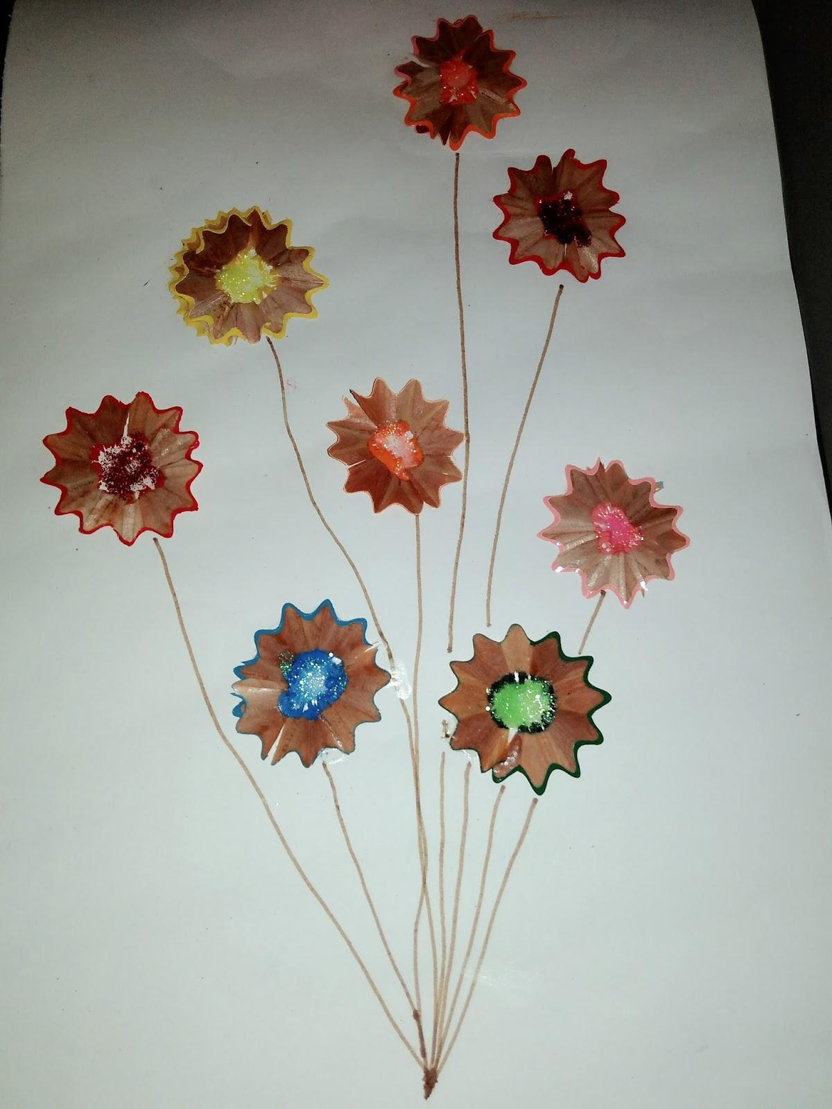 Allaboutlynns Craft Bunga Dari Kayu Serutan Pensil