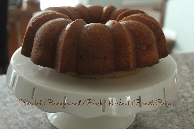 Roasted Banana and Walnut Bundt Cake
